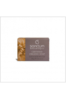 Sanctum Certified Organic Soap - Cedar Wood & Olive Leaf 100g
