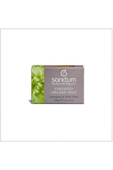 Sanctum Certified Organic Soap – Lemongrass & Witch Hazel 100g